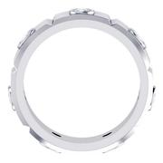 Grooved Round Bezel Eternity Band, 7mm Wide