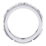 Grooved Round Bezel Eternity Band, 8mm Wide