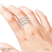 Stackable Diamond Band - Twisted Pave