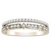 14k Two Row Diamond Stackable Band
