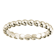 14k Ladies Beaded Wedding Band