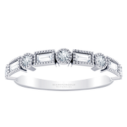 Stackable Diamond Vintage Band