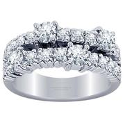 Diamond Band- Two Row Round Diamonds