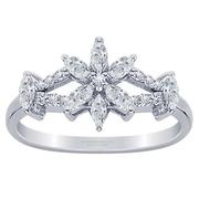 0.79ctw Marquise Flower Diamond Band