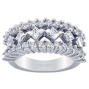 2.44ctw Princess and Round Diamond Fashion Ring