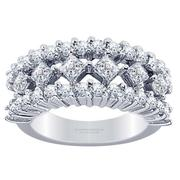 1.68ctw Princess and Round Diamond Fashion Ring