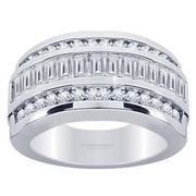 1.65ctw Emerald and Round Diamond Ring
