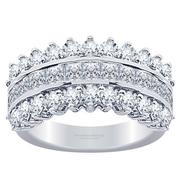 2.46ctw Princess and Round Diamond Fashion Ring