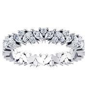 Marquise Diamond Cluster Eternity Band 1ctw