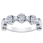 Alternating Diamond Oval Anniversary Band