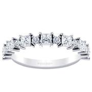 Alternating Diamond Princess Anniversary Band