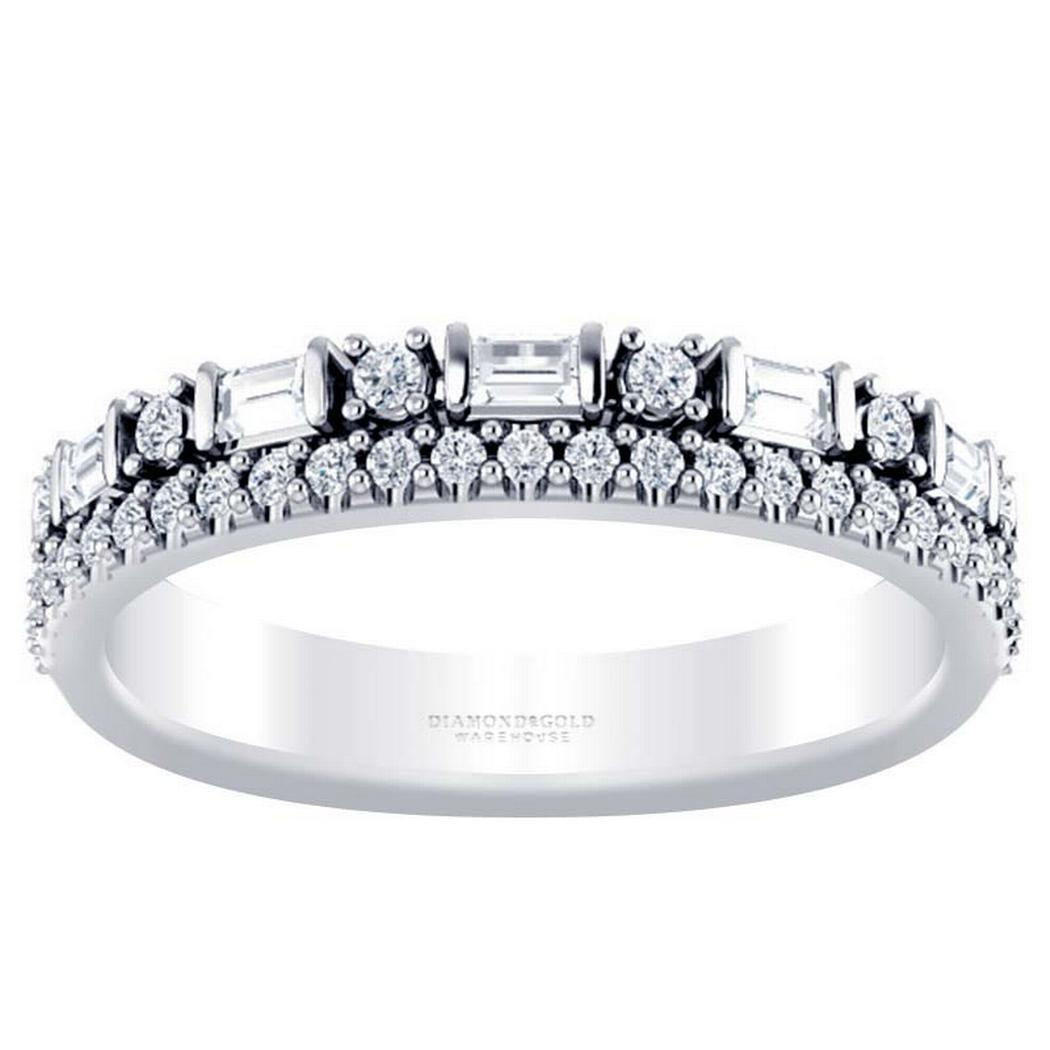 Stackable Diamond Band - Two Rows