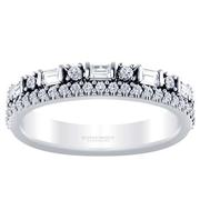 Two Row 1/2ctw Diamond Anniversary Band