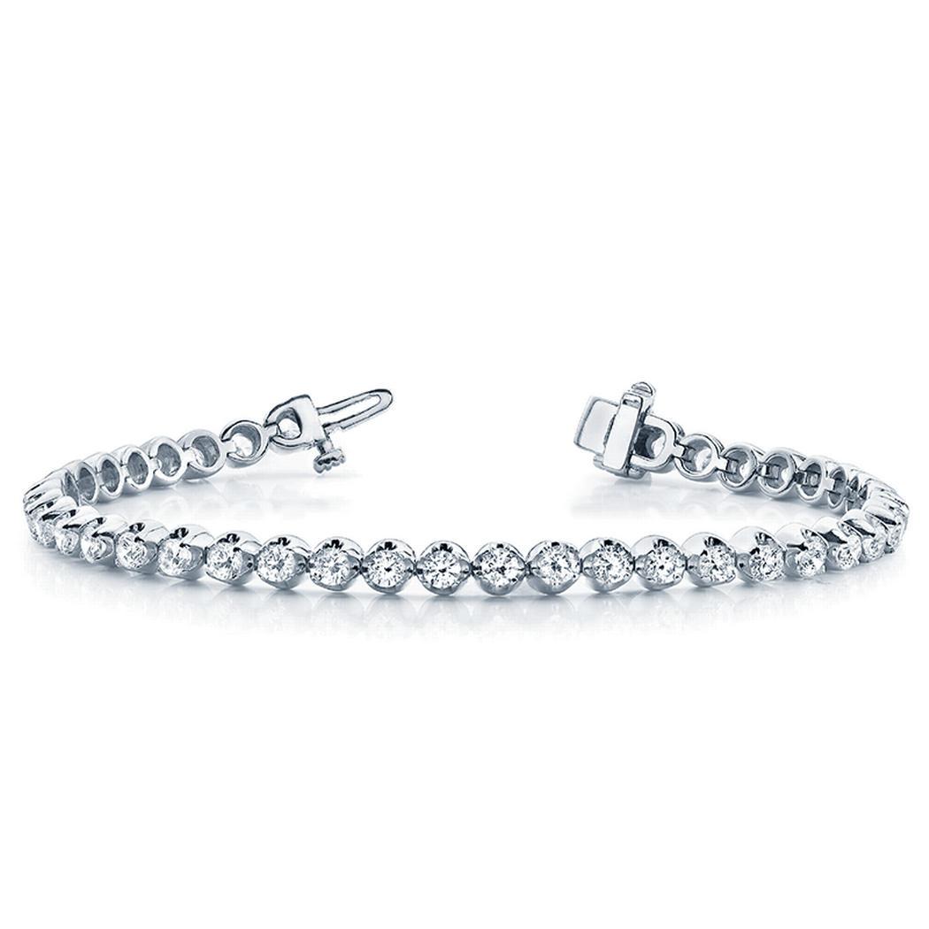 14k In-Line Illusion Diamond Tennis Bracelet