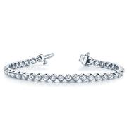 14k In-Line Illusion Diamond Tennis Bracelet
