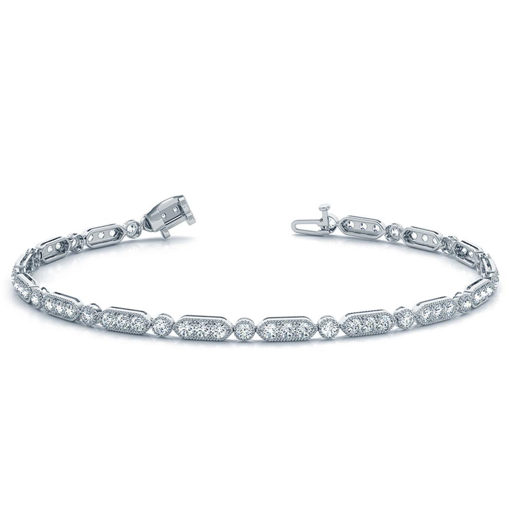 14k Milgrain Stackable Bracelet