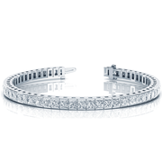 14k Princess Channel Diamond Tennis Bracelet