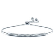 14k Two Row Adustable Diamond Bracelet