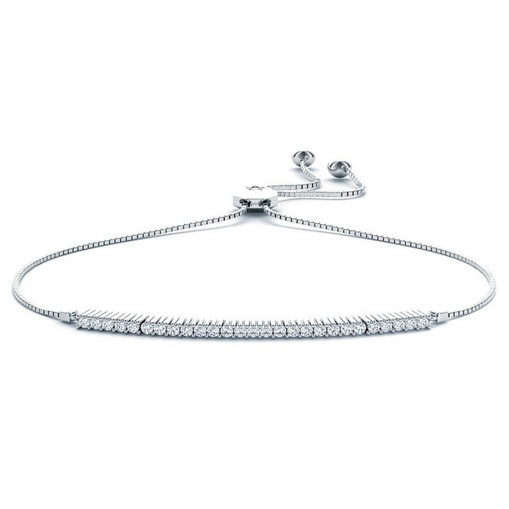 3/8ctw 14k Adjustable Diamond Bracelet