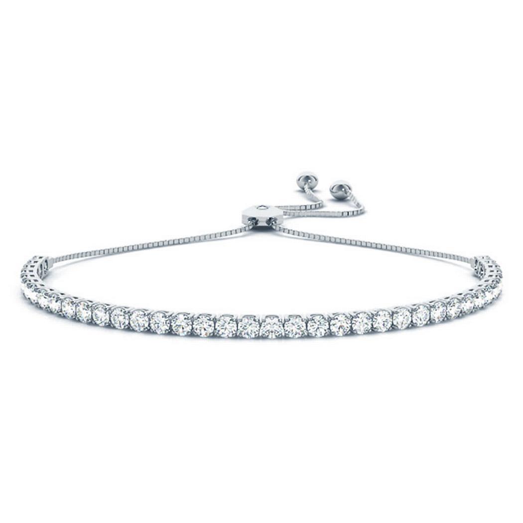 3 5/8ctw In-Line Adjustable Tennis Bracelet