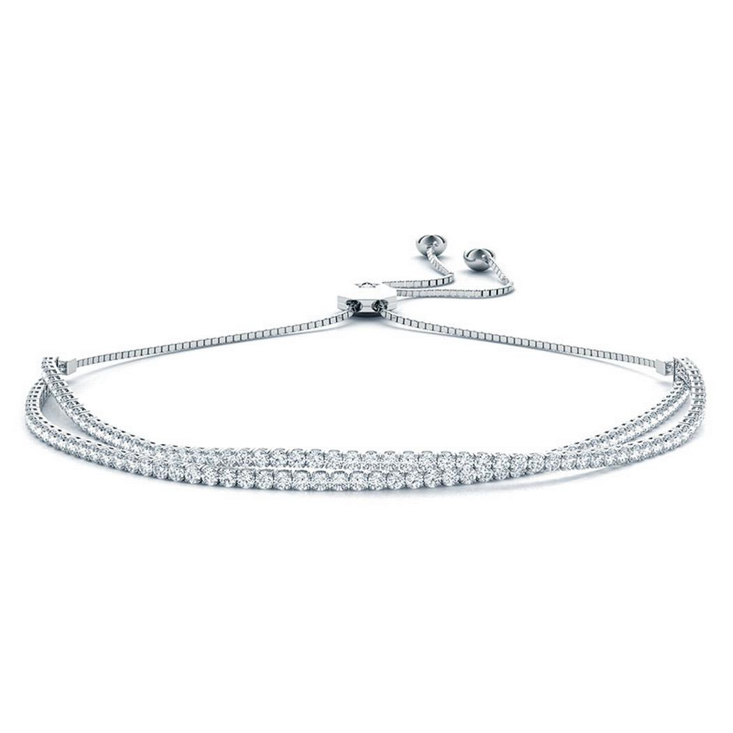 2 1/3ctw In-Line Adjustable Tennis Bracelet