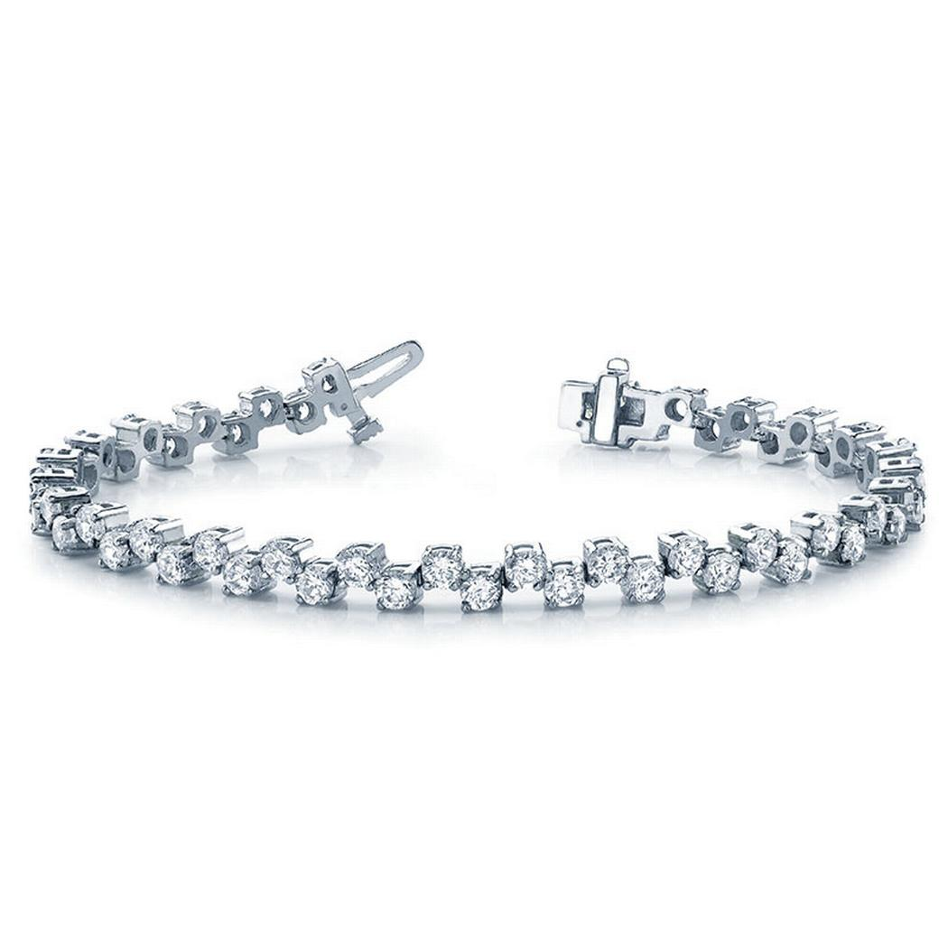 2ctw Alternating Diamond Tennis Bracelet