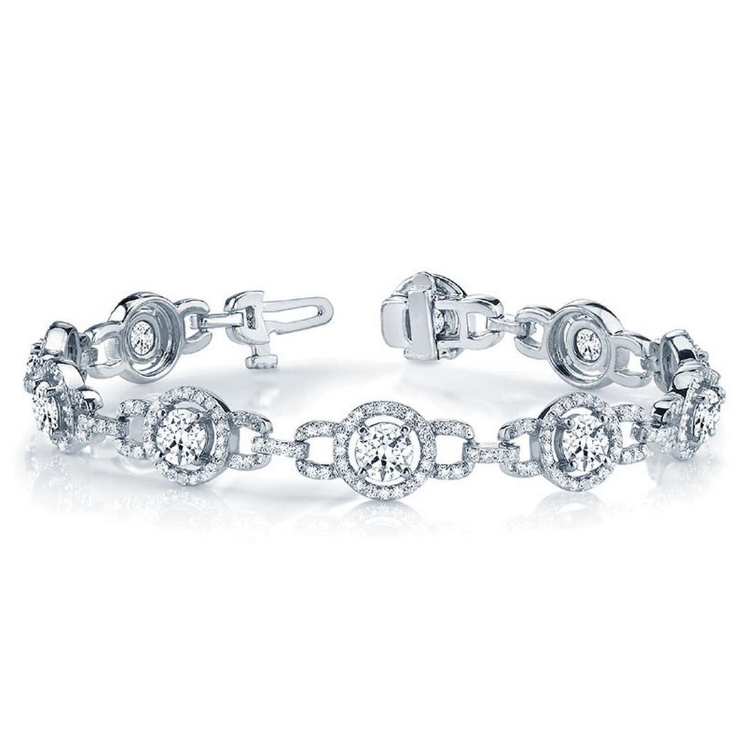 5ctw Fashion Halo Diamond Tennis Bracelet