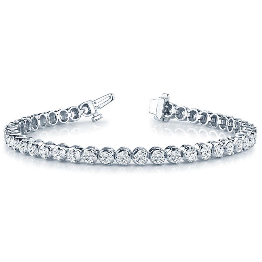 2 1/8ctw Illusion Diamond Tennis Bracelet