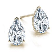 14k Pear Diamond Stud Earrings