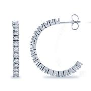 1 5/8ctw Diamond Hoop Earrings