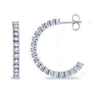1 5/8ctw Diamond Hoop Earrings