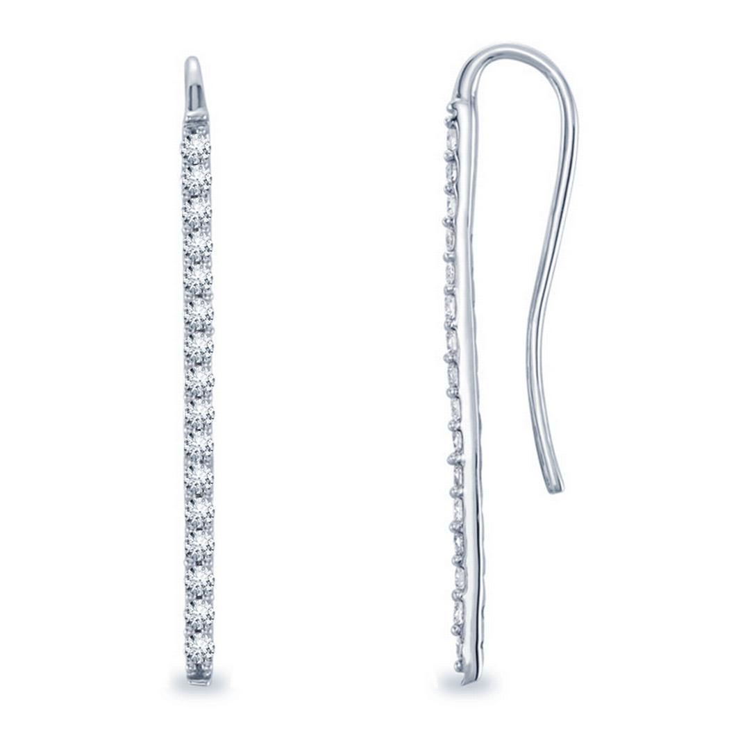 1/3ctw Diamond Bar Earrings