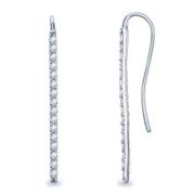 1/3ctw Diamond Bar Earrings