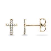 1/20ctw Diamond Cross Earrings