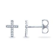 1/20ctw Diamond Cross Earrings