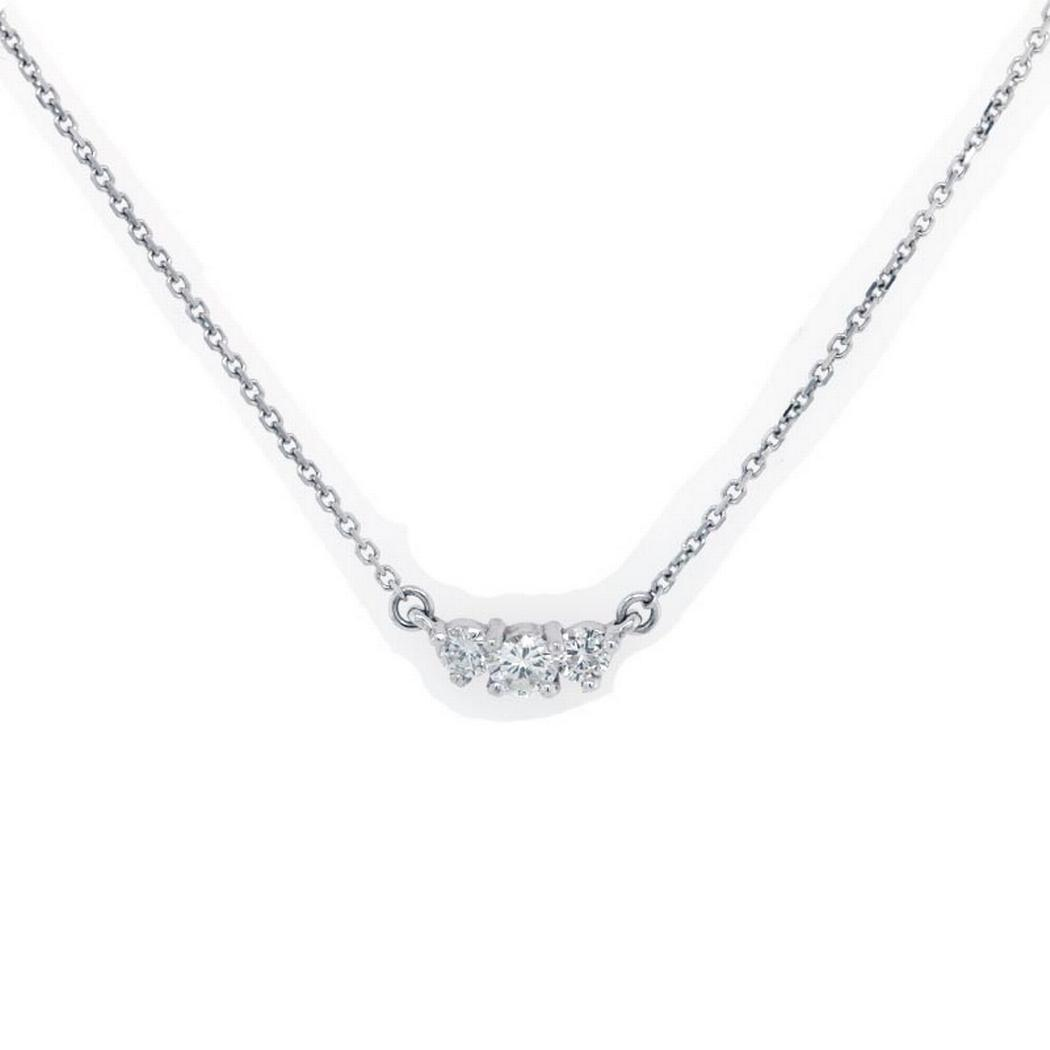 Round Diamond Pendant - Three Stone