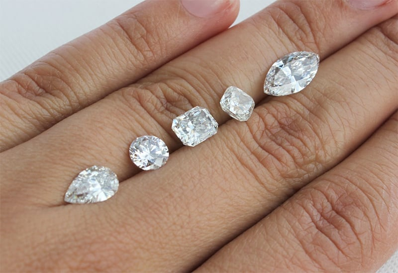 Select from our variety of loose diamonds and build your ring around it